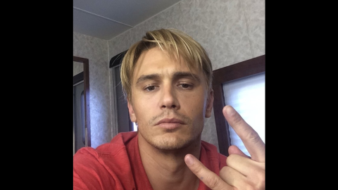 """Don't be mistaken: That really is a blond James Franco. The actor is going for """"that Late 90s bleached look,"""" as he explained on <a href=""""http://instagram.com/p/rj1EEWS9Uc/?modal=true"""" target=""""_blank"""" target=""""_blank"""">Instagram</a>. Could it have anything to do with his work in the <a href=""""http://variety.com/2014/film/news/zachary-quinto-and-emma-roberts-join-james-francos-michael-exclusive-1201262255/"""" target=""""_blank"""" target=""""_blank"""">2015 drama """"Michael,""""</a> about former gay activist <a href=""""http://instagram.com/p/rhQJdES9b6/?modal=true"""" target=""""_blank"""" target=""""_blank"""">Michael </a>Glatze? We'll know in time. For now, see these other transformations for the big screen:"""