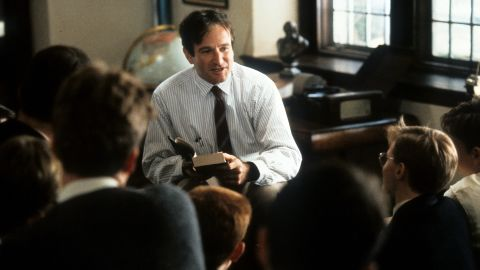 """Williams portrayed a teacher in the movie """"Dead Poets Society"""" in 1989, one of his first mostly dramatic roles."""