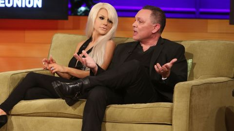 """Courtney Stodden's romance with former """"Lost"""" actor Doug Hutchison has had some bumps. <a href=""""http://marquee.blogs.cnn.com/2011/06/21/lost-actor-marries-16-year-old-girlfriend/"""" target=""""_blank"""">Stodden is best known for marrying Hutchison </a>when she was 16 and he was 51.<a href=""""http://marquee.blogs.cnn.com/2013/11/06/doug-hutchison-courtney-stodden-separate/"""" target=""""_blank""""> In 2013, the controversial couple decided to separate, </a>although they continued to share a home. Maybe close quarters is what led to the rekindled affair; they've been back together since late last year."""