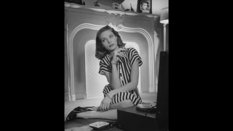 """Actress <a href=""""http://www.cnn.com/2014/08/12/showbiz/lauren-bacall-dead/index.html?hpt=hp_t2"""">Lauren Bacall</a>, the husky-voiced Hollywood icon known for her sultry sensuality, died on August 12. She was 89."""