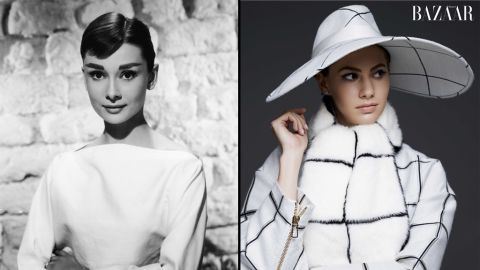 """The granddaughter of style icon Audrey Hepburn, Emma Ferrer made a stylish entrance of her own. <a href=""""http://www.harpersbazaar.com/emmaferrer"""" target=""""_blank"""" target=""""_blank"""">In the September issue of Harper's Bazaar,</a> the 20-year-old aspiring artist was photographed by the 23-year-old grandson of photographer Richard Avedon."""