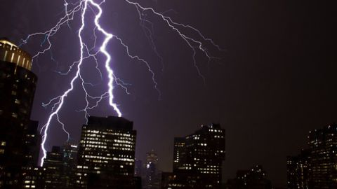 """""""'As the storm neared, the lightning intensified, lighting up the sky nearly once a second,"""" said <a href=""""http://ireport.cnn.com/docs/DOC-616745"""">Jim Clouse</a>, who witnessed lightning striking downtown Boston in June 2011."""