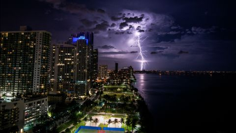 """""""I was really surprised I was able to capture a lightning strike like this,"""" said <a href=""""http://ireport.cnn.com/docs/DOC-1149081"""">Madeline Belt</a>, who shot this photo off Biscayne Bay in Miami in June. The storm would later become Hurricane Arthur."""