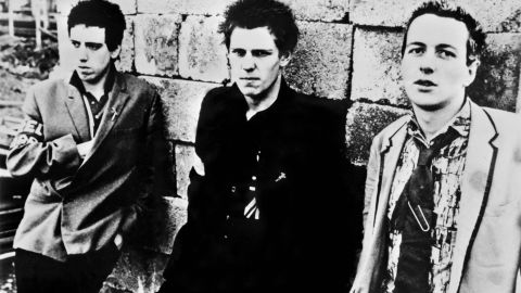 """""""London Calling"""" - The Clash, Joe Strummer, right, with band members Mick Jones, left, and Paul Simonon pictured here in 1978, played a major role in the history of punk music:"""