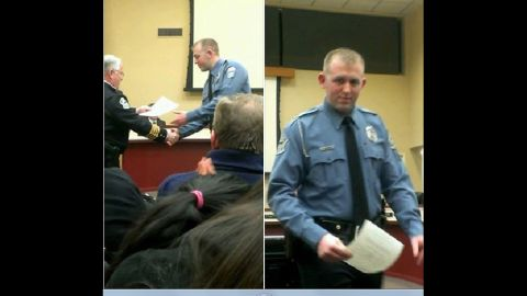 An image showing Ferguson police officer Darren Wilson taken from Facebook.