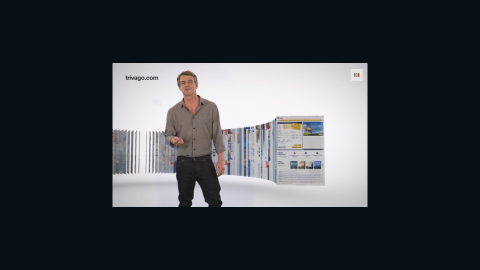 """""""Trivago Guy"""" Tim Williams used to look like this in his ads for the travel website."""