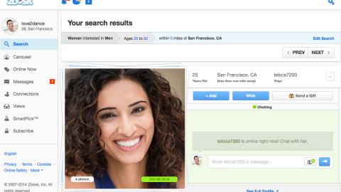 Online profiles for women