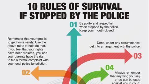 10 Rules of survival if stopped by the police