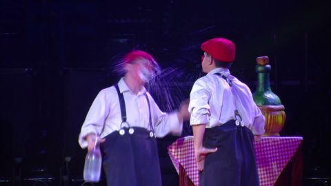 Professional Clowns get laughs with classic slap-stick comedy._00000830.jpg