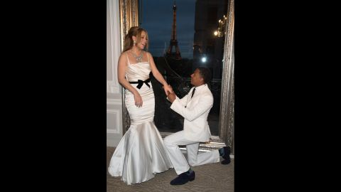 """Cannon is 11 years younger than his superstar wife and was very open about his admiration for her. <a href=""""http://www.elle.com/pop-culture/celebrities/nick-cannon-341098"""" target=""""_blank"""" target=""""_blank"""">He told Elle</a> she was his celebrity crush years before they met in 2008 when she cast him in one of her music videos."""