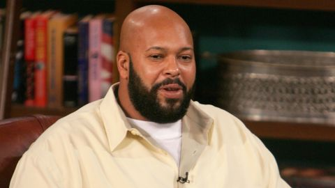 Caption:LOS ANGELES - NOVEMBER 18: Music Producer Suge Knight (L) and guest host D.L.Hughley appear at CBS Studios for a taping of 'The Late Late Show' on November 18, 2004 in Los Angeles, California. Suge Knight gives his take on the incident at this week's Vibe Awards. (Photo by Mark Mainz/Getty Images)