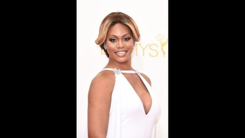 """""""Orange Is the New Black"""" star Laverne Cox looked radiant on the red carpet in 2014."""