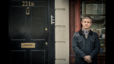 """Outstanding Supporting Actor in a Miniseries or a Movie: Martin Freeman, """"Sherlock: His Last Vow"""""""