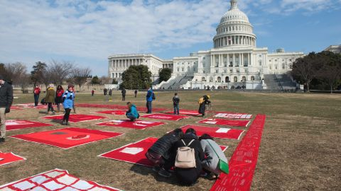 """The Monument Quilt began in summer 2013 and has been growing ever since. This summer, activist group """"Force: Upsetting Rape Culture"""" took the quilt on a 13-stop road trip in 12 states, displaying portions of the quilt and collecting squares made by people in the host communities."""