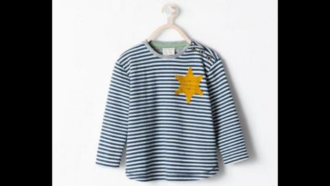 """Spanish fashion retailer <a href=""""http://www.cnn.com/2014/08/27/living/zara-pulls-sheriff-star-shirt/index.html"""">Zara apologized</a> in August for selling a striped T-shirt that drew criticism for its resemblance to uniforms worn by Jewish concentration camp inmates. Zara said the garment, advertised online as a striped """"sheriff"""" T-shirt, was inspired by """"the sheriff's stars from the Classic Western films."""""""