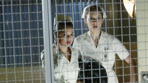 """""""Pretty Little Liars"""" fans were ready for a death in the fifth midseason finale, but that didn't make it any easier. In the August 26 episode, one-time """"A"""" Mona Vanderwaal (Janel Parrish, left) <a href=""""http://www.mtv.com/news/1913683/pretty-little-liars-fatal-finale-questions/"""" target=""""_blank"""" target=""""_blank"""">was killed off.</a> Or so it seemed; """"Pretty Little Liars"""" is famous for also bringing people back from the presumed dead. (We're looking at you, Ali.)"""