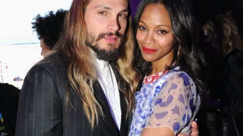 """Zoe Saldana appears to be the type who'd rather show than tell. The actress and her artist husband, Marco Perego, were spotted wearing gold wedding bands in September 2013, which led to confirmation that the couple had actually married earlier that summer in front of a small gathering of family and friends. And with the couple now expecting their first child, Saldana stayed quiet until she confirmed her pregnancy by getting her husband<a href=""""https://www.youtube.com/embed/2cfGEUd5BTU"""" target=""""_blank"""" target=""""_blank""""> to take the ALS bucket challenge for her. </a>"""