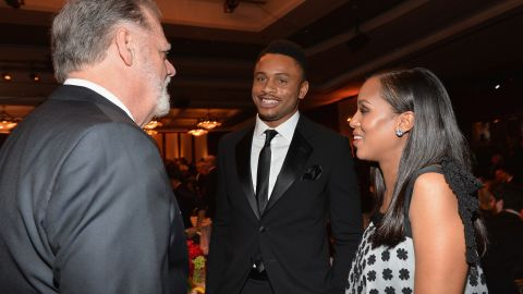 """Like Saldana, Kerry Washington has been extremely reluctant to talk about her husband or her baby. There were multiple reports that the """"Scandal"""" actress had wed football player Nnamdi Asomugha in June 2013 in Idaho, <a href=""""http://marquee.blogs.cnn.com/2013/07/04/kerry-washington-mum-on-marriage-reports/?iref=allsearch"""" target=""""_blank"""">but the actress refused to say whether it happened or not</a>. She played it similarly close to the vest when she became very evidently pregnant toward the end of 2013."""