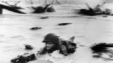 U.S. troops assault Omaha Beach during the invasion of Normandy on June 6, 1944. On D-Day, Allied forces landed on five beaches -- Utah, Omaha, Juno, Gold and Sword -- taking the first step in establishing the Western Front in Europe. The landing included more than 5,000 ships, 11,000 airplanes and 150,000 soldiers. More than 35,000 Allied troops were killed during the Normandy Campaign, which lasted till the end of August 1944.