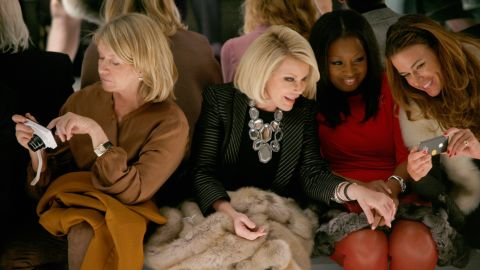 In February 2013, she attended the Dennis Basso Fall 2013 fashion show. Alongside her, from left, are Martha Stewart, Star Jones and Kelly Bensimon.