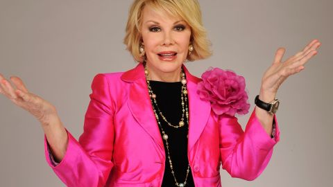 """<a href=""""http://www.cnn.com/2014/09/04/showbiz/celebrity-news-gossip/joan-rivers-obit/index.html"""" target=""""_blank"""">Joan Rivers</a>, the sassy comedian whose gossipy """"can we talk"""" persona catapulted her into a career as a headlining talk-show host, best-selling author and red-carpet maven, died September 4. She was 81."""