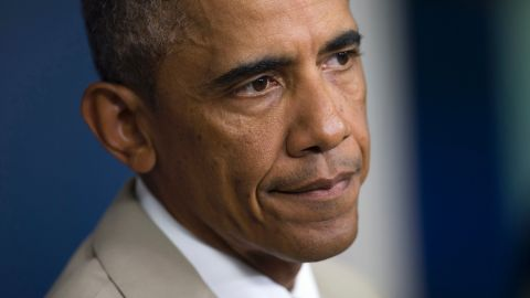 President Barack Obama listens to a question in the James Brady Press Briefing Room of the White House in Washington on Thursday.