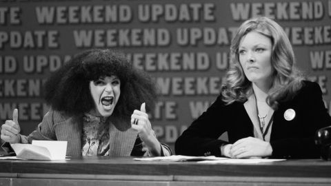 """In 1975, """"Saturday Night Live"""" debuted and introduced viewers to history-making comedians like Gilda Radner, left, and Jane Curtin, who were part of the original """"SNL"""" cast. The duo put in place some of the most iconic sketches to date, from the Coneheads to Baba Wawa. Post-""""SNL,"""" both were poised for screen success, but Radner's career was cut short by her death in 1986. Curtin went on to star in sitcoms like """"Kate & Allie"""" and """"3rd Rock from the Sun."""""""