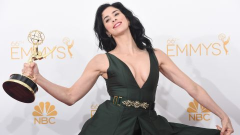"""The only thing guaranteed when Sarah Silverman does stand-up is that something outlandish, and probably offensive, will come flying out of her mouth. Silverman honed her talent in the writers' room of """"Saturday Night Live"""" in the early '90s before landing some on-camera work of her own. Roles in movies like """"Bulworth"""" and """"There's Something About Mary"""" helped increase her visibility, but it was her 2005 one-woman show, """"Jesus Is Magic,"""" that cemented her place as a force to be reckoned with."""