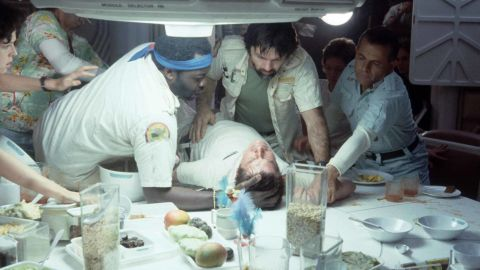 """Leonard Maltin loves talking about movies -- and admits that, sometimes, his critiques change over time. He initially found 1979's <strong>""""Alien""""</strong> (with, from left, Sigourney Weaver, Yaphet Kotto, John Hurt, Tom Skerritt and Ian Holm) """"upsetting."""" He changed his mind when he saw the rerelease 25 years later. The film gets 3½ stars in the """"Movie Guide."""""""