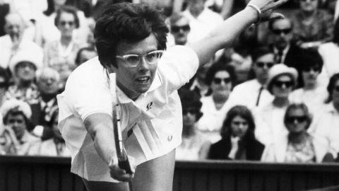 American tennis legend Billie Jean King during the 1967 Wimbledon championships.