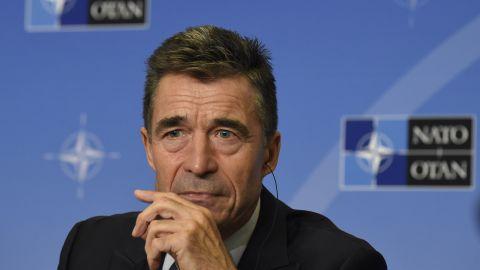 Secretary-General of The North Atlantic Treaty Organization (NATO) Anders Fogh Rasmussen in Brussels on September 1, 2014.