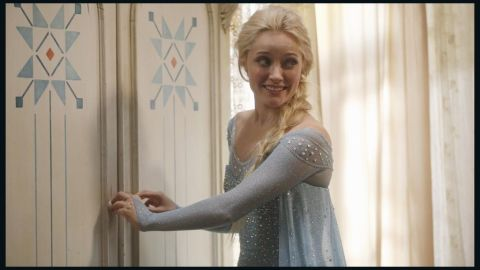 """Five """"Frozen"""" characters joined the ABC series """"Once Upon a Time,"""" including Elsa, who's played by Georgina Haig."""
