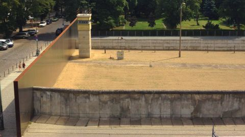 """The bike tour of the Berlin Wall takes in several visible stretches of the original """"Death Strip"""" where defectors were shot."""