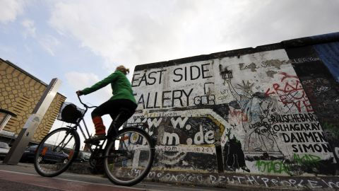Michael Cramer, the politician and cycling enthusiast who conceived the Berlin Wall cycle trail, says it's a unique mix of tourist attraction and recreational zone.