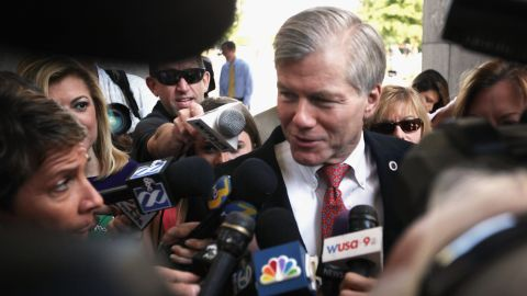 """Former Virginia Gov. Bob McDonnell arrives at his corruption trial in Richmond, Virginia, in September 2015. A jury convicted McDonnell and his wife, Maureen, derailing the political ambitions of the one-time rising star in the Republican Party. McDonnell, who was sentenced to two years in prison, has asked the Supreme Court to reverse his conviction. The high court <a href=""""http://www.cnn.com/2016/04/27/politics/supreme-court-bob-mcdonnell/"""" target=""""_blank"""">heard his challenge</a> in April."""