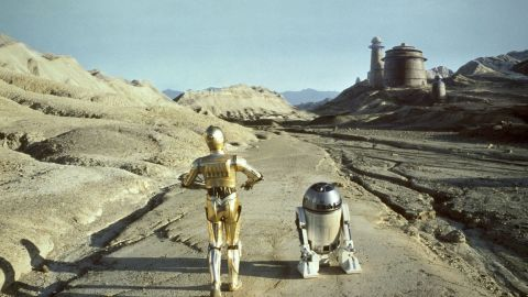 """Human-friendly robots C-3P0, left, and R2-D2 in the """"Star Wars"""" series."""