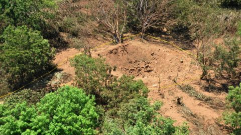 The crater is in a wooded area near Managua's international airport and an air force base.