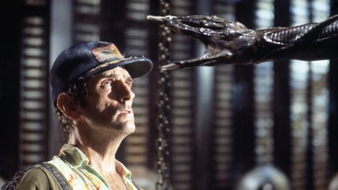 """Harry Dean Stanton as Brett, the engineering technician who encounters the alien aboard the spacecraft Nostromo in """"Alien."""" Ash, the science officer on the ship, turns out to be an android that was ordered to return the alien organism to Earth for potential weapon usage."""