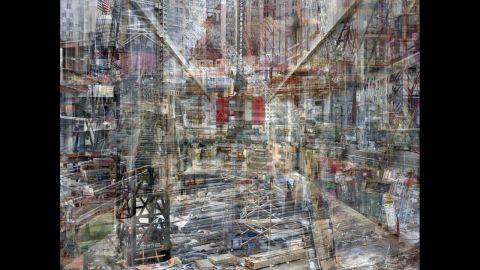 Shai Kremer World Trade Center Concrete Abstract Julie Saul Gallery