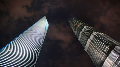 There are 241 skyscrapers in Shanghai, nearly twice as many as any other city in mainland China. Shanghai Jinmao Tower (right, 420.5 meters) and Shanghai World Financial Center (left, 492 meters) are two of them.