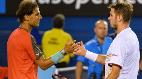 Stan Wawrinka, right, set the tone for an unpredictable tennis season by defeating injured top seed Rafael Nadal in January's Australian Open men's final.