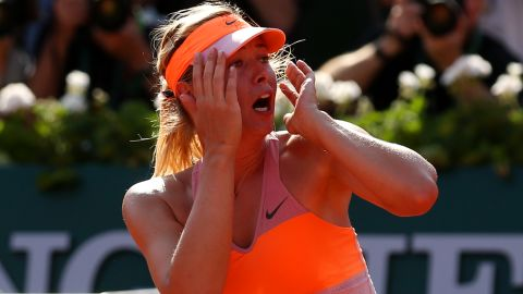 """Maria Sharapova -- who once described herself as a """"cow on ice"""" on clay -- made it two French Open titles in three years by outlasting Romania's rising star Simona Halep, who was playing in her first grand slam final. It's the only major the 27-year-old Russian has won more than once."""