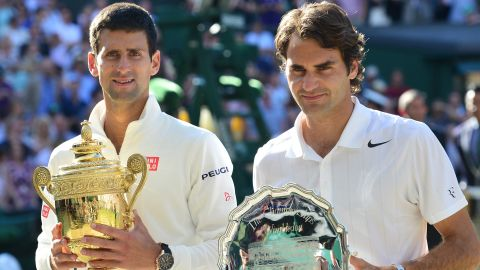 Djokovic, left, rebounded from his French Open disappointment to defeat Roger Federer in the Wimbledon final. The Serbian regained the No. 1 ranking and claimed his seventh grand slam.