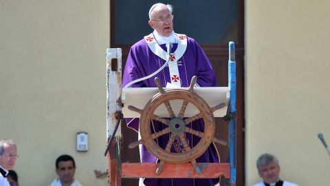 """It follows the Pope's visit to the small island of Lampedusa -- <a href=""""http://edition.cnn.com/2013/07/08/world/europe/pope-lampedusa-refugees/index.html?iref=allsearch"""">where 366 migrants died in shipwreck in 2013 </a>-- in which he criticized the """"global indifference"""" to the refugee crisis. As the closest Italian island to Africa, Lampedusa is a frequent destination for refugees seeking to enter European Union countries and shipwrecks off its shores are common. Many of the migrants are from African nations, while others have fled war-torn Syria, officials say. Others are economic refugees."""