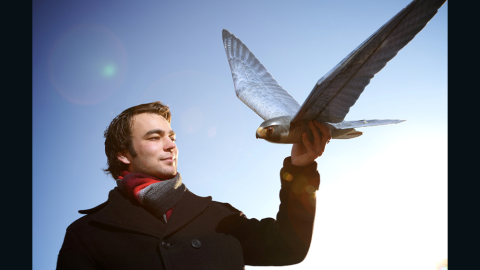 """The Dutch-made <a href=""""http://edition.cnn.com/2014/09/16/tech/realistic-robo-hawks-clear-flight/"""">robobird</a> is designed to terrorize other birds and keep them away from crops."""