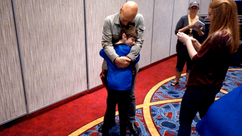 Is there a better surprise for a Trekkie than a visit from Patrick Stewart? The actor took some time out from his appearance at Atlanta's Dragon Con in August 2014 to meet a fan named Dawn Garrigus. The young girl has mitochondrial disease and asked to meet Stewart through the Make-A-Wish Foundation. Stewart talked with her for a while, signed autographs and gave her a heartwarming hug.