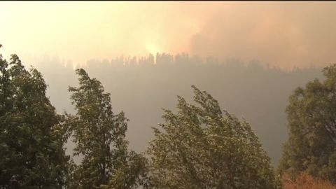 The King Fire obscures the sun east of Sacramento