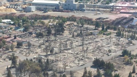 The Boles Fire burned through Weed, California