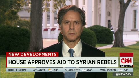 House approves aid to Syrian rebels Blinken interview newday _00000110.jpg