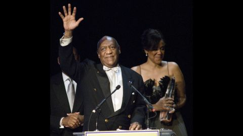 Cosby accepts the Marian Anderson Award in 2010 at the Kimmel Center for the Performing Arts in Philadelphia.